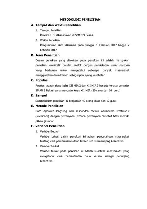 format proposal bahasa indonesia contoh daftar isi untuk proposal penelitian 8 contoh o