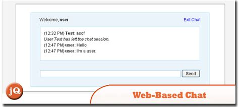 tutorial web based application 9 crazy jquery chat and chat box plugins sitepoint
