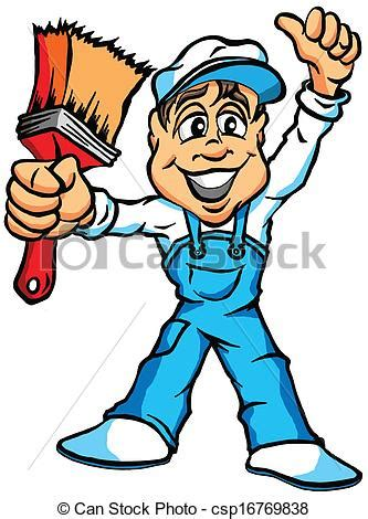 find a house painter vectors of house painter a cartoon illustration of a house painter csp16769838