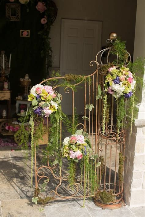 Enchanted Garden Decor Floral Draped Metal Decor From Vintage Enchanted Garden Birthday At Kara S Ideas