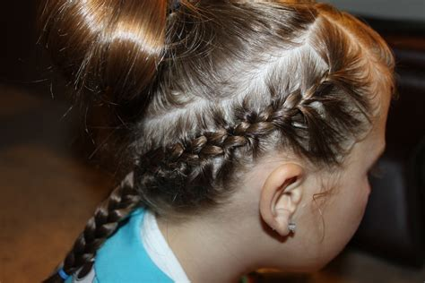 french braid low side hairstyles for girls the wright hair frenchbraid bands