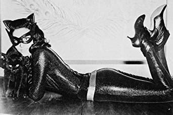 batman lee meriwether lying  floor  catwoman leathers