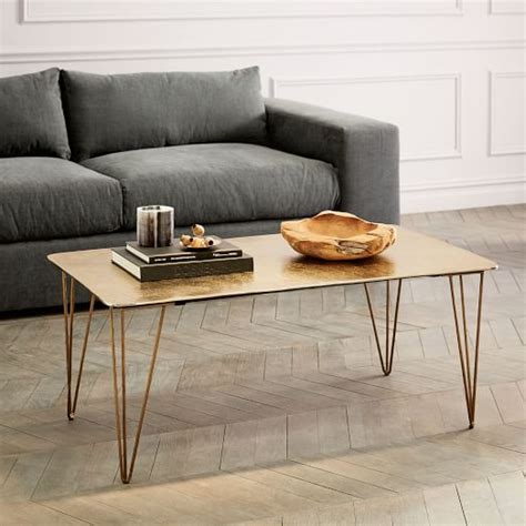 brass hairpin coffee table west elm