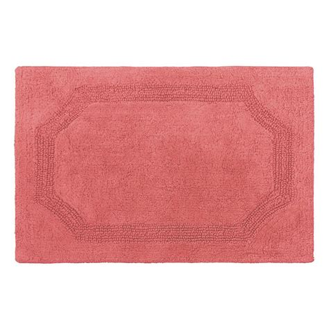Coral Bath Rugs Reversible Coral Cotton 2 Bath Mat Set Laymb005979 The Home Depot