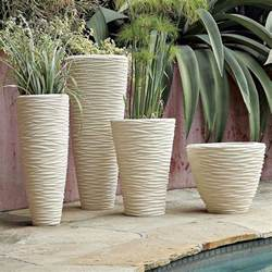 textured stone planters for your mini garden