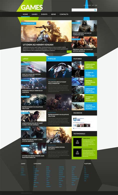joomla themes games game portal responsive joomla template 52407