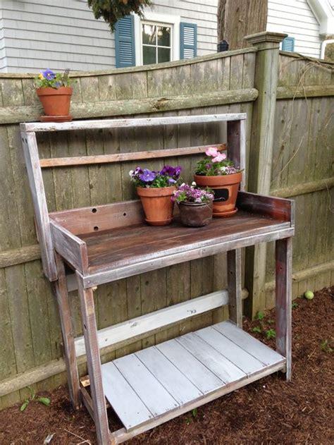 reclaimed wood potting bench reclaimed wood potting bench repurpose pinterest
