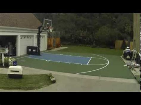 how to make a basketball court in your backyard how to build a sport court basketball court youtube