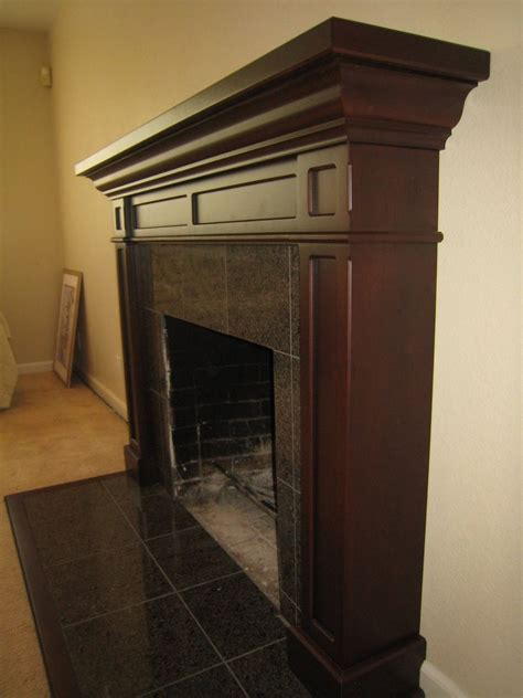 made cherry fireplace mantel by michael meyer