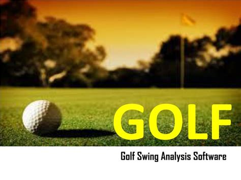 Ppt Golf Swing Analysis Software Swing Profile