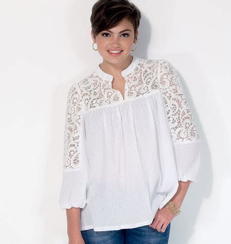 Blouse Matcha Top mccall s 7095 misses tops and tunics