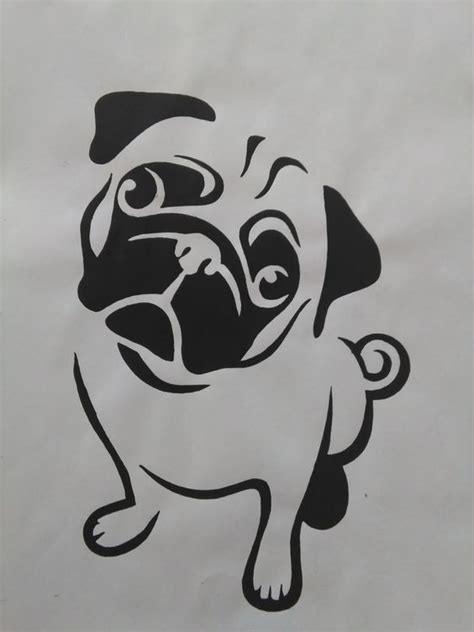 pug stencil the world s catalog of ideas