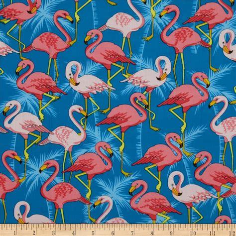 Flamingo Quilt Fabric by Flamingo Road Flamingo Blue Discount Designer Fabric