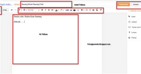 tutorial html pemula pdf cara memberikan link pada tulisan blog di blogspot