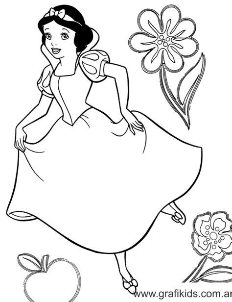 imagenes para pintar blancanieves grafikids dibujos para colorear blanca nieves
