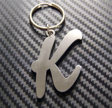 Name Letter K k letter alphabet name keyring keychain key fob bespoke