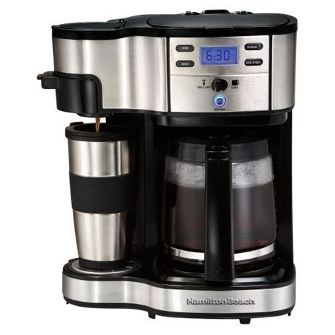 Hamilton Beach Two Way Brewer Single Serve and 12 cup Coffee Maker   eBay
