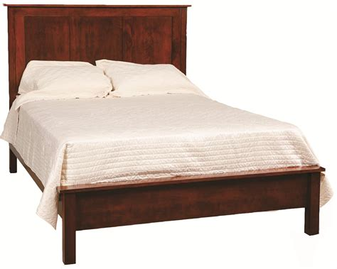 Low Profile Bed Frame Concord Frame Bed With Low Profile Footboard By Daniel S Amish Wolf Furniture