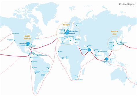 ship route map list of world s largest container ships cruisemapper