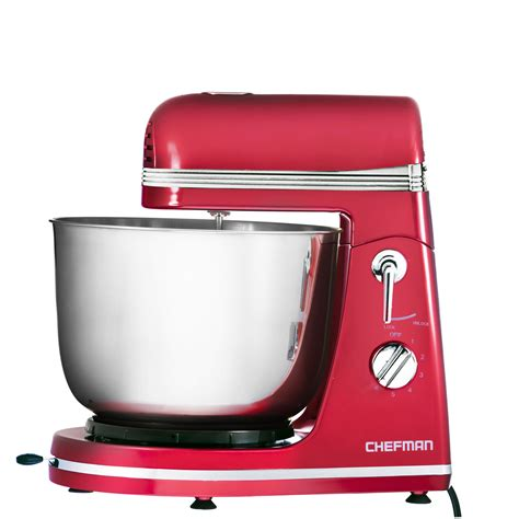red small kitchen appliances chefman legacy series power stand mixer red appliances