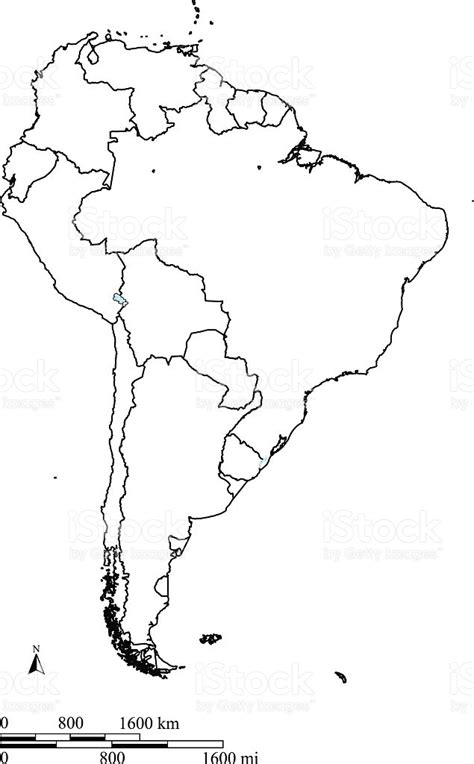 sketch book a4 peru south america map outline vector with countries borders