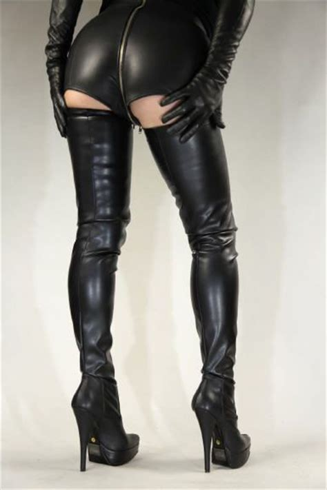 high heel crotch thigh boots by miceli made in italy