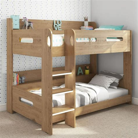 Bunk Bed by Modern Oak Bunk Bed Storage Shelves 5060388566913