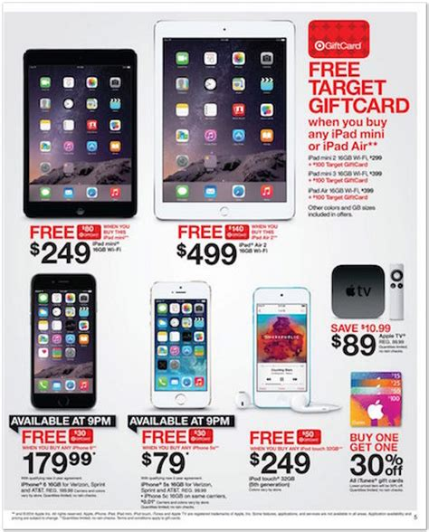 Apple Gift Card Black Friday - target s black friday apple deals leak ahead of the big event with gift cards galore