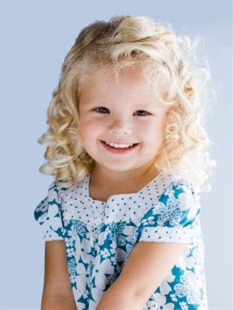 Kids Hairstyle: Cute Curly Kids Hairstyles Toddler Blonde
