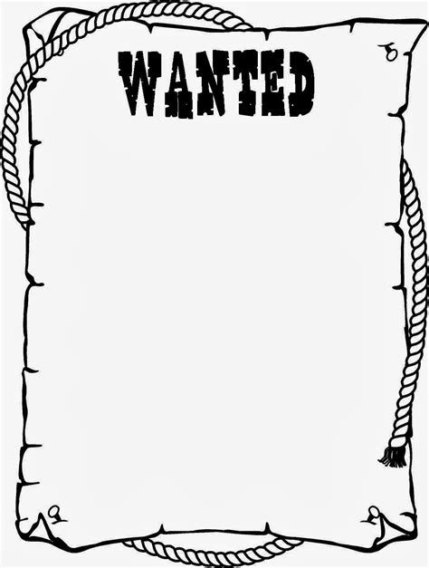wanted poster template for kids ctzobx5z school stuff