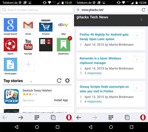 opera mini android opera mini for android update comes with new user interface ghacks tech news