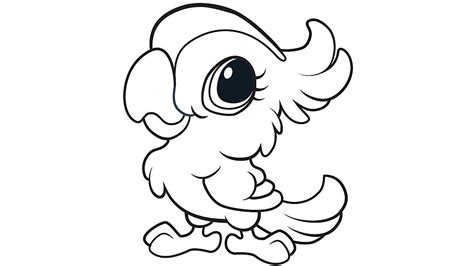 cute coloring pages for 11 year olds learning friends parrot coloring printable