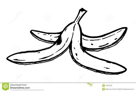 Banana Peel Outline by Banana Coloring Pages