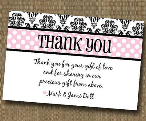 Thank You Card Sayings For Baby Shower Gifts - baby shower thank you wording just b cause