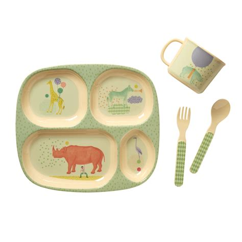 Baby Meal Set baby 4 melamine dinner set in gift box by rice vibrant home