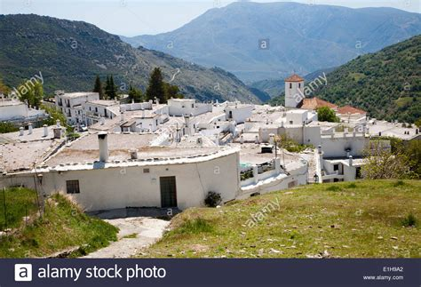 sierra nevada house houses in village of capileira high alpujarras sierra nevada stock photo royalty