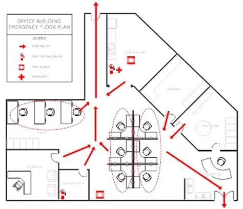 evacuation plan template for office evacuation plan template make evacuation plans easily