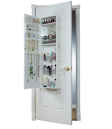 over the door beauty armoire with full length mirror mirrotek over the door combination jewelry and makeup