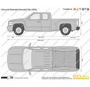 The Blueprintscom  Vector Drawing Chevrolet Silverado Extended Cab