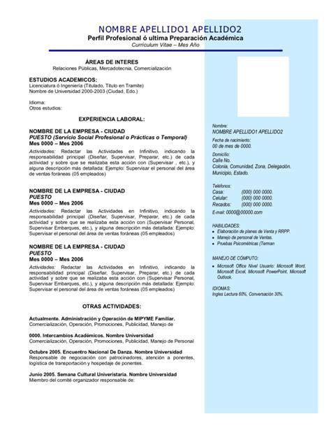Curriculum Vitae Bolsa De Trabajo Grupo Modelo Curriculum Vitae Medico Veterinario Recien Egresado