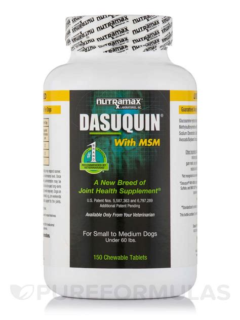 small to medium dogs dasuquin 174 with msm for small to medium dogs 150 chewable tablets