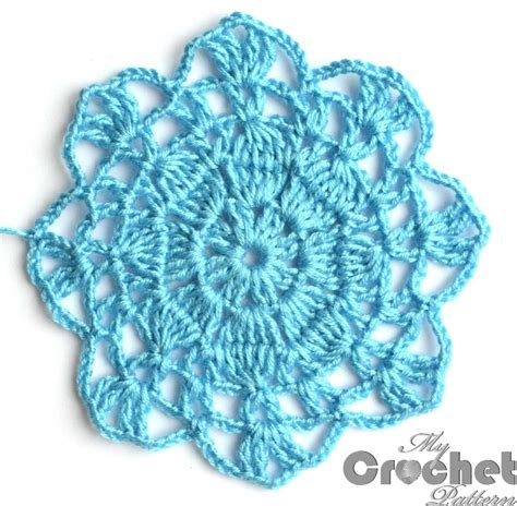 Motif Flower Blue blue big flower motif pattern mycrochetpattern