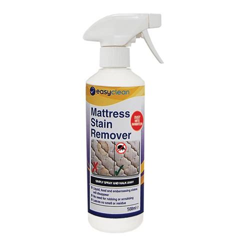 Best Stain Remover For Mattress mattress stain remover spray and walk away easylife