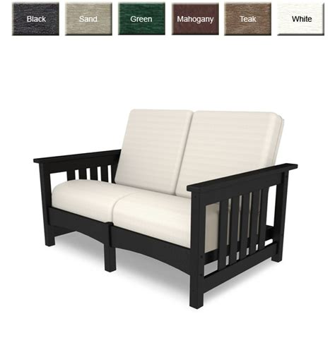 mission settee polywoodfurniture com gt polywood 174 cmc47 deep seating