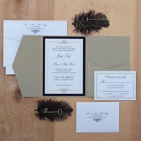 fold and send wedding invitations wedding invitation black and gold invitation