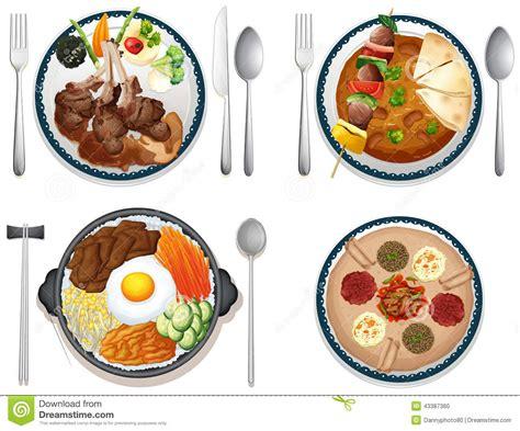 illustration cuisine international food stock vector illustration of graphic