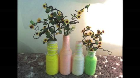 Recycle Flower Vases by Diy Home Or Room Decoration Recycle Bottle Into Flower Vase