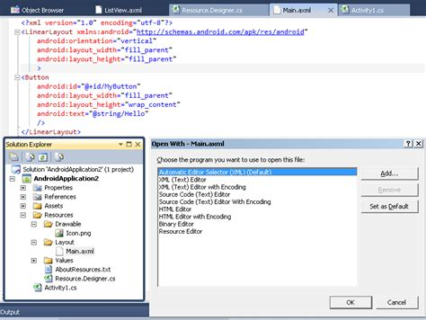 layout design visual studio visual studio 2010 mono for android vs2010 cannot view