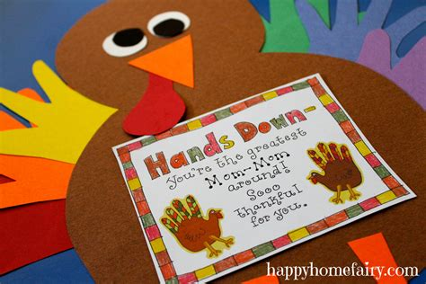turkey thankful card template free thankful handprint turkey craft free printable happy