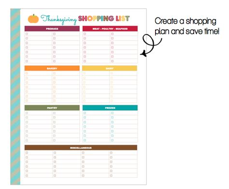 printable thanksgiving grocery shopping list clean life and home freebie printable thanksgiving
